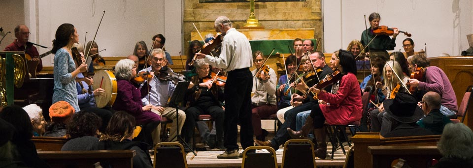 Orchestra at its first concert